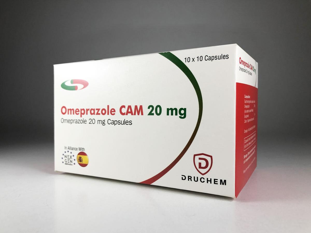Druchem's Omeprazole Cam 20 mg Capsules